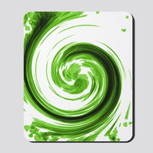 Emerald Spiral Mousepad