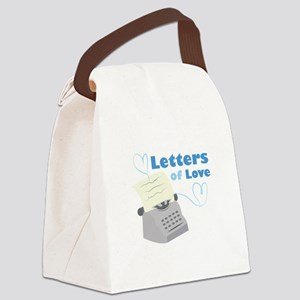 Letters Of Love Canvas Lunch Bag