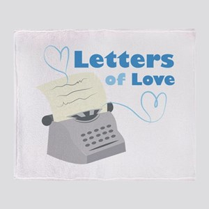 Letters Of Love Throw Blanket