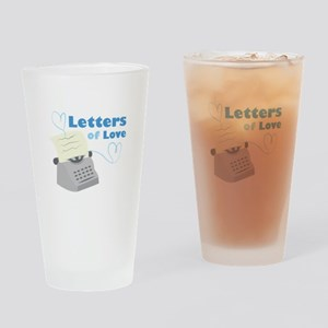 Letters Of Love Drinking Glass