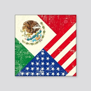"Two Flags, One Race Square Sticker 3"" x 3"""