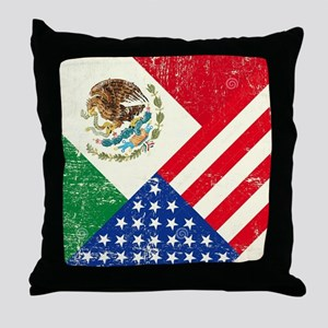 Two Flags, One Race Throw Pillow