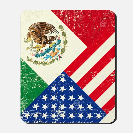 Two Flags, One Race Mousepad