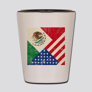 Two Flags, One Race Shot Glass