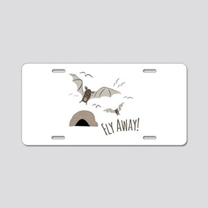 Fly Away Aluminum License Plate