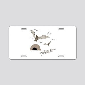 Ive Gone Batty Aluminum License Plate