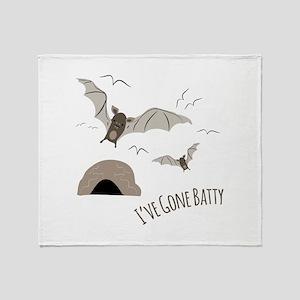 Ive Gone Batty Throw Blanket