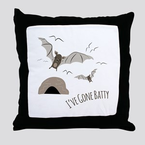 Ive Gone Batty Throw Pillow