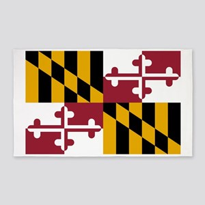 Maryland State Flag Area Rug