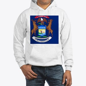 Michigan State Flag Hooded Sweatshirt