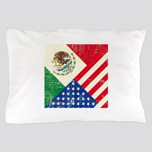 Two Flags, One Race Pillow Case