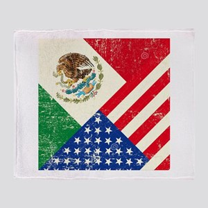Two Flags, One Race Throw Blanket
