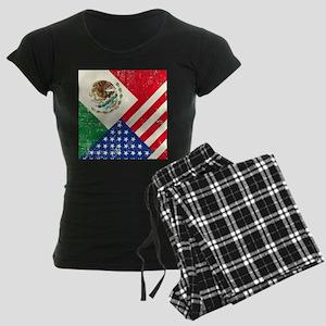 Two Flags, One Race Women's Dark Pajamas