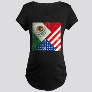 Two Flags, One Race Maternity T-Shirt