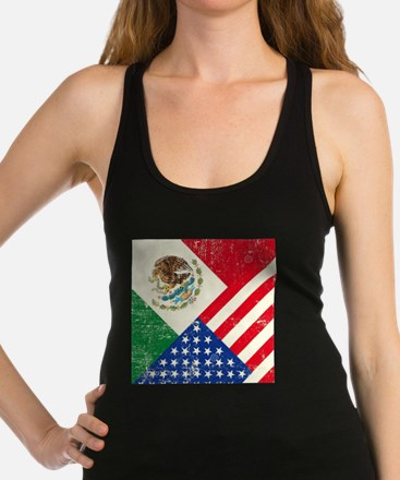 Two Flags, One Race Racerback Tank Top