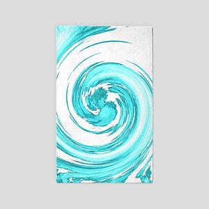 Sea Foam Spiral Area Rug