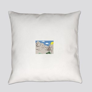 Mt Rushmore Everyday Pillow