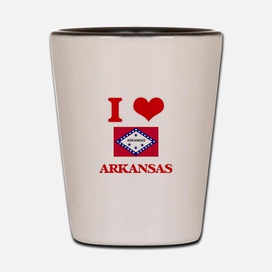 I Love Arkansas Shot Glass