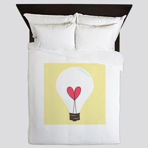 Light Bulb Queen Duvet