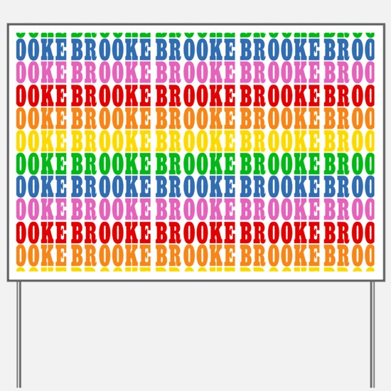 Rainbow Name Pattern Yard Sign