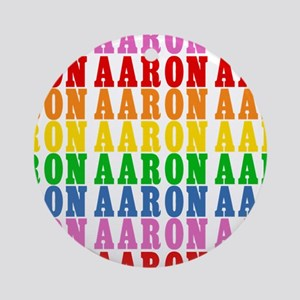 Rainbow Name Pattern Ornament (Round)