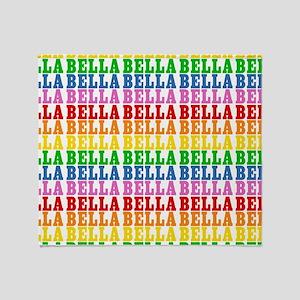 Rainbow Name Pattern Throw Blanket
