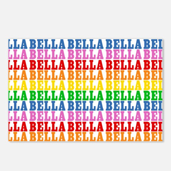 Rainbow Name Pattern Postcards (Package of 8)