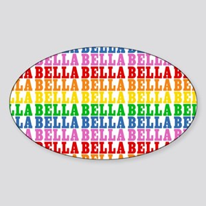 Rainbow Name Pattern Sticker (Oval)