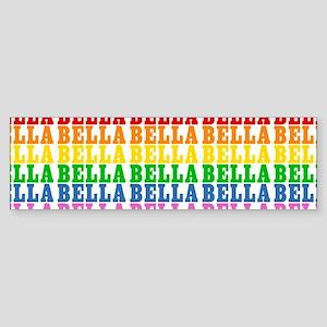 Rainbow Name Pattern Sticker (Bumper)