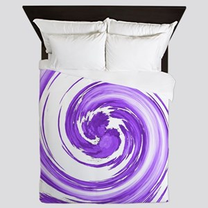 Purple Spiral Queen Duvet