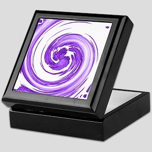 Purple Spiral Keepsake Box