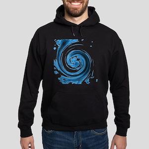 Blue Spiral Hoodie (dark)