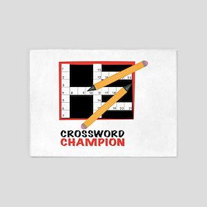 Crossword Champ 5'x7'Area Rug