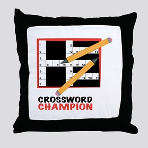 Crossword Champ Throw Pillow