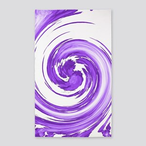 Purple Spiral Area Rug