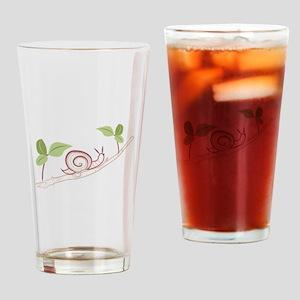 Snail On Limb Drinking Glass