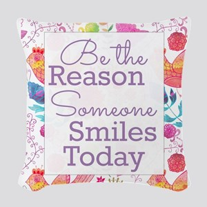 Smiles Woven Throw Pillow