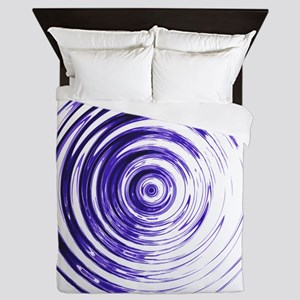 Blue Bullseye Queen Duvet