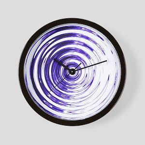 Blue Bullseye Wall Clock