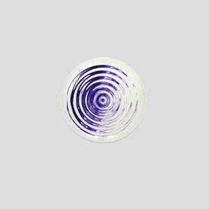 Blue Bullseye Mini Button