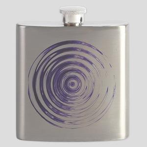 Blue Bullseye Flask