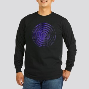 Blue Bullseye Long Sleeve Dark T-Shirt
