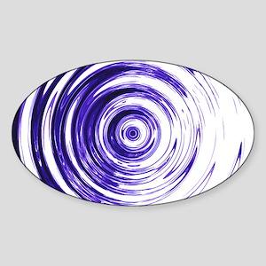 Blue Bullseye Sticker (Oval)