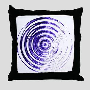 Blue Bullseye Throw Pillow