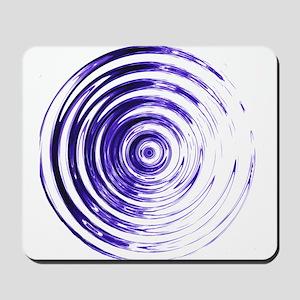 Blue Bullseye Mousepad