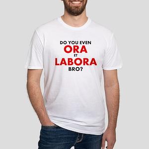 Ora Et Labora Mens Fitted T-Shirt