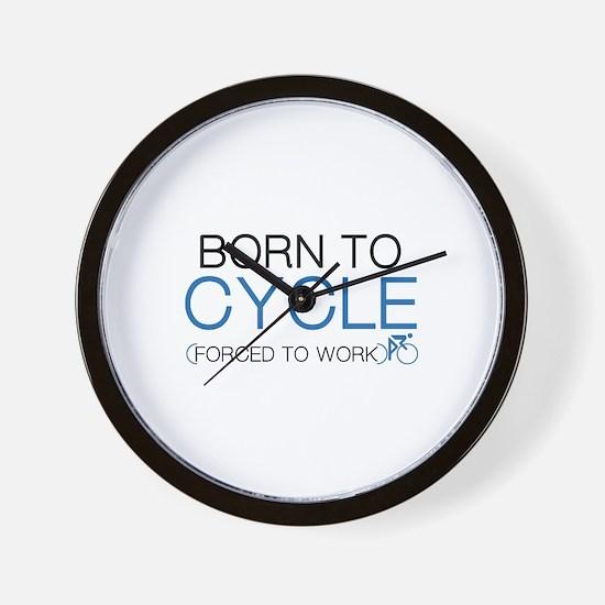 Born To Cycle Wall Clock