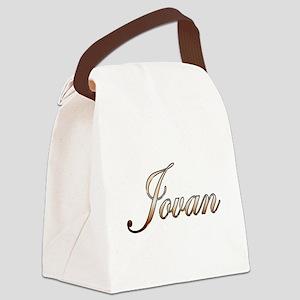 Gold Jovan Canvas Lunch Bag