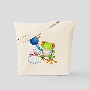 Bowling Frog Tote Bag