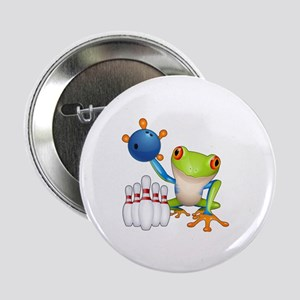 """Bowling Frog 2.25"""" Button"""